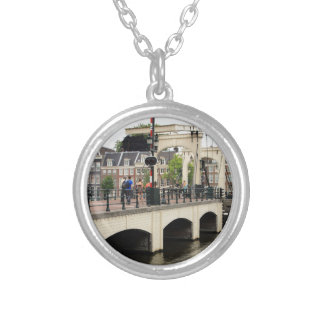 Skinny Bridge, Amsterdam, Holland Silver Plated Necklace