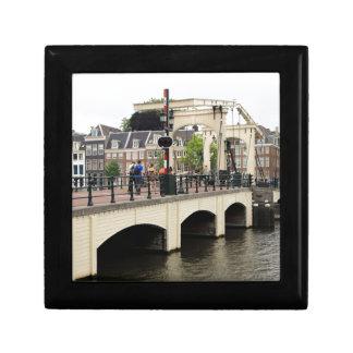Skinny Bridge, Amsterdam, Holland Small Square Gift Box