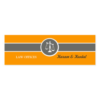 Skinny Business Card Justice Scales