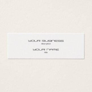 Skinny Business Card Luxury Excutive Gold