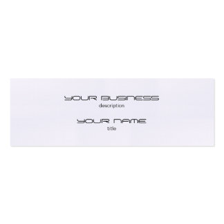 Skinny Business Card Luxury Excutive Linen