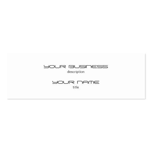 Skinny Business Card Template Premium Heavy White