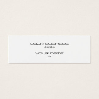 Skinny Business Card Template Premium Heavy White
