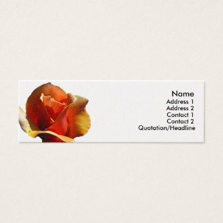 Skinny Card - Orange Rose