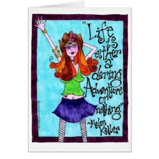Skinny Cowgirl Inspirational Illustration Card