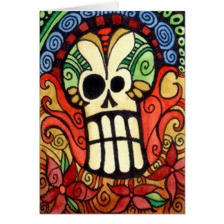 Skinny Day of the Dead / Sugar Skull Card