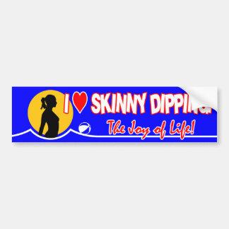 Skinny Dipping Bumper Sticker