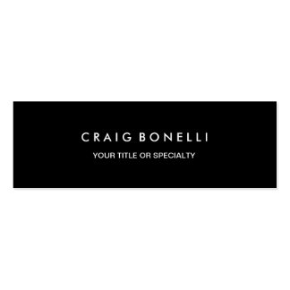Skinny Elegant Black Color Standard Business Card