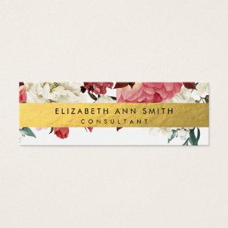 Skinny Floral Design Business Card
