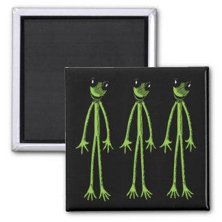 Skinny Frog Square Magnet