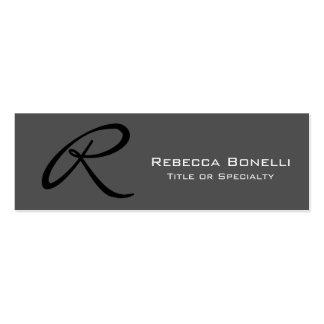 Skinny Grey Monogram Consultant Business Card