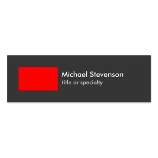 Skinny Grey Red Stripe Trendy Chic Business Card Pack Of Skinny Business Cards