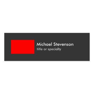 Skinny Grey Red Stripe Trendy Chic Business Card