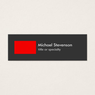 Skinny Grey Red Stripe Trendy Chic Business Card