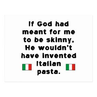 Skinny Italian Pasta Postcard