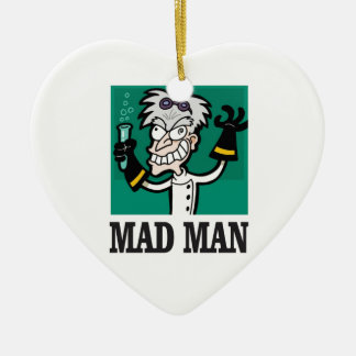 skinny mad man ceramic ornament