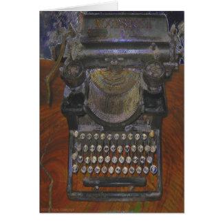 Skinny Old Antique Typewriter Card