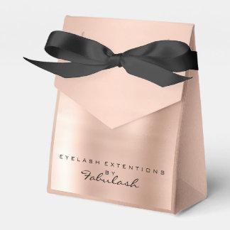 Skinny Pink 1 Metallic Name Branding Beauty Salon Favour Box