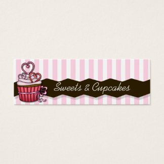 skinny pink cupcake cards