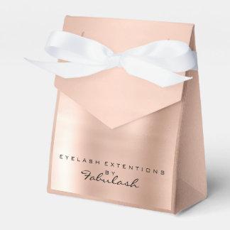 Skinny Pink Metallic Name Branding Beauty Salon Favour Box