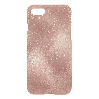 Skinny Pink Rose Gold Glitter  Minimalism Glass iPhone 8/7 Case