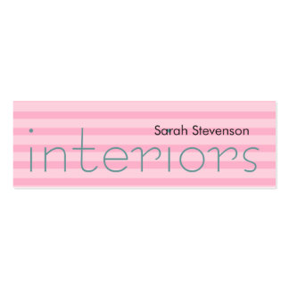 Skinny Pink Stripes Interior Designer Pack Of Skinny Business Cards