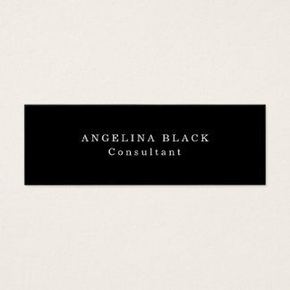 Skinny Plain Black & White Professional Creative Mini Business Card