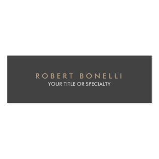 Skinny Plain Exclusive Gray Double-Sided Mini Business Cards (Pack Of 20)