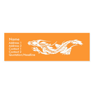 Skinny Profile Card Template - Dragon Pack Of Skinny Business Cards