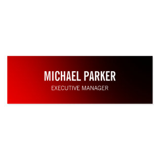 Skinny Red Bold Text Stylish Professional Pack Of Skinny Business Cards