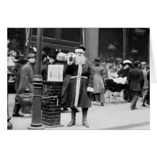 Skinny Santa, early 1900s Card