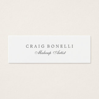 Skinny Slim Double Sided Mini Business Card