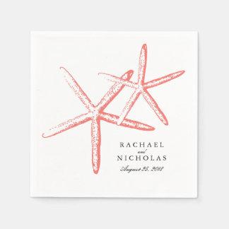 Skinny Starfish   Wedding Disposable Napkin