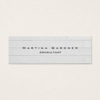 Skinny Unique Modern Grey Wall Minimalist Plain Mini Business Card