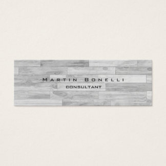 Skinny Unique Modern Parquet Minimalist Plain Mini Business Card