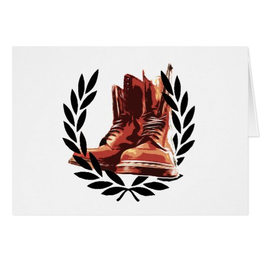 skins boots greeting cards