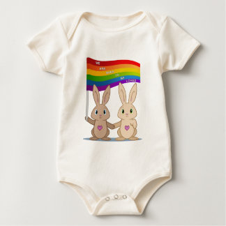 Skip & Pip (aka the Pride Bunnies) .png Baby Bodysuit