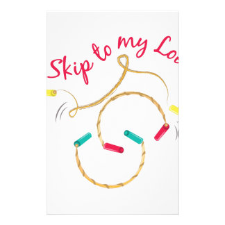 Skip Rope Customized Stationery