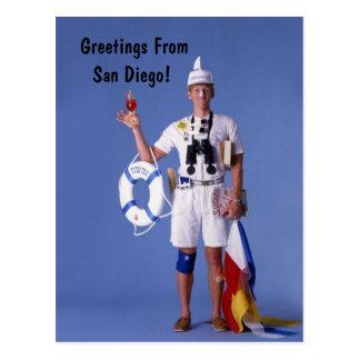 Skip Sayles™_Greetings From San Diego postcard
