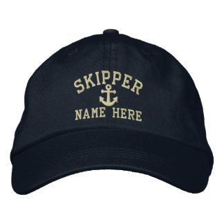 Skipper - customizable embroidered hat