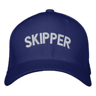 Skipper text embroidered hat