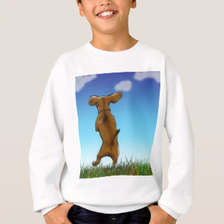 skipping_doxie_color sweatshirt
