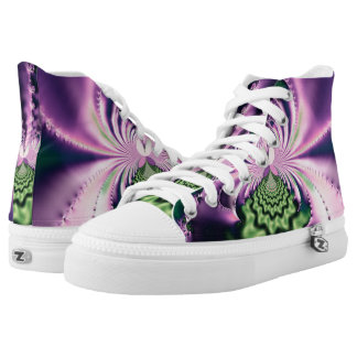Skipping Stones Fractal Printed Shoes