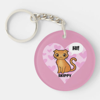 Skippy's Super Cute Double-Sided Round Acrylic Key Ring