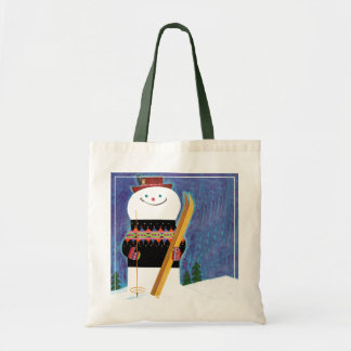 Skis for Snowman Budget Tote Bag