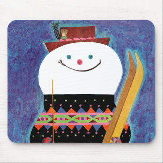 Skis for Snowman Mouse Pads