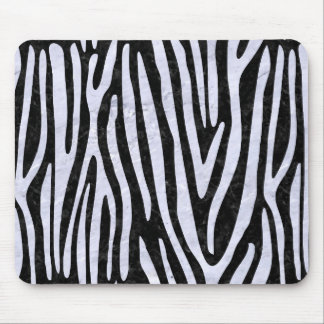 SKN4 BK-WH MARBLE (R) MOUSE PAD
