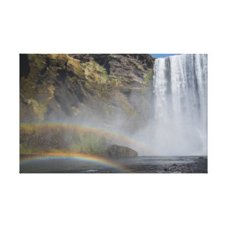 Skógafoss Waterfall, Iceland Canvas Print
