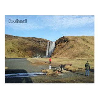 Skógafoss Waterfall, Iceland Postcard