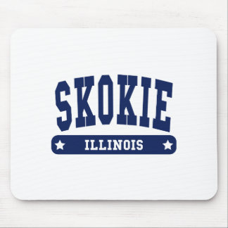 Skokie Illinois College Style tee shirts Mouse Pad